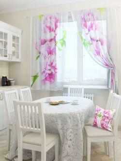 Firana nowoczesna pastelowe kwiaty zas ony gotowe firany sklep internetowy Home sklep