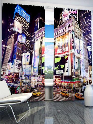 Zasłona Gotowa Nowy Jork Reklamy